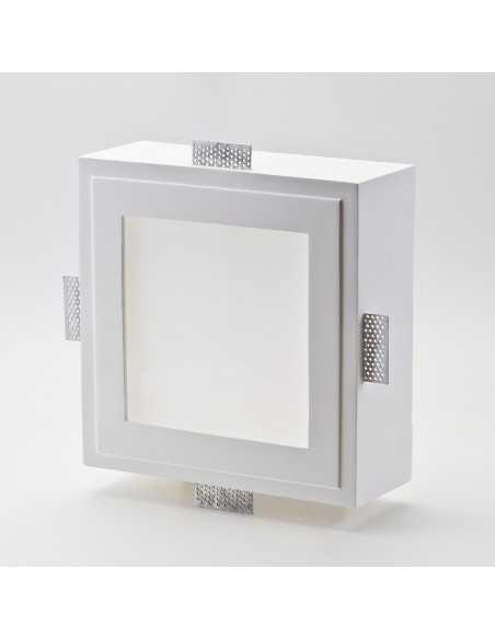 Faretto in gesso quadrato con vetro IsyLuce 810