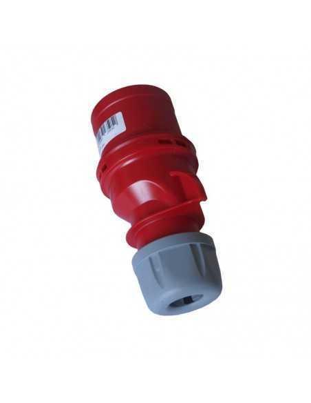 Spina volante industriale rossa 3P+N+T 32A 400V IP44 FAEG FG23505, Alveoli in ottone, -25°C +60°C, IK 8