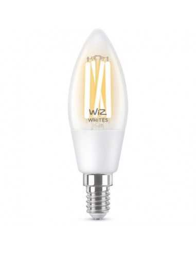 Lampadina Wifi Smart E14 5w Trasparente Vintage Dimmerabile Luce Calda Bianca Philips Signify Wiz Connected 470
