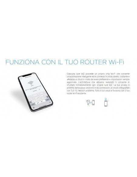 Lampadina WiFi Smart E27 13W RGB 16 Milioni di colori e Luce Calda-Bianca Philips Signify Wiz Connected, 1521 Lumen, App