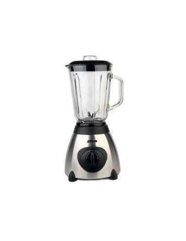 Frullatore blender con bicchiere in vetro da 1,5 l e lama in acciaio tritaghiaccio Zephir ZHC486, 600W, 5 Velocità e Pulse