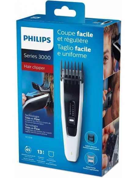 Tagliacapelli ricaricabile Philips serie 3000 HC3518/15 con lame in acciaio inossidabile