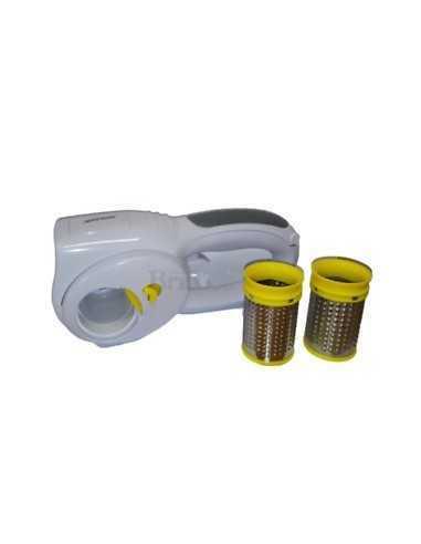 Grattugia elettrica ricaricabile con 2 rulli dentati in acciaio e 45 minuti di autonomia Zephir ZHC28, 25W, Dimensioni ridotte