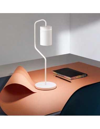 Lampada Da Tavolo Led Ricaricabile Bianca Opaco Perenz Magnet 6910 B Kit Led Incluso 2 2w