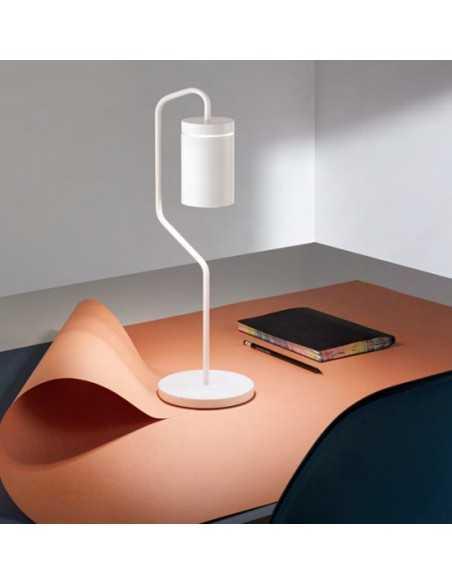 Lampada da tavolo LED Ricaricabile Bianca Opaco Perenz Magnet 6910 B, Kit LED INCLUSO 2,2W, Luce Calda, 9 ore di autonomia, IP54