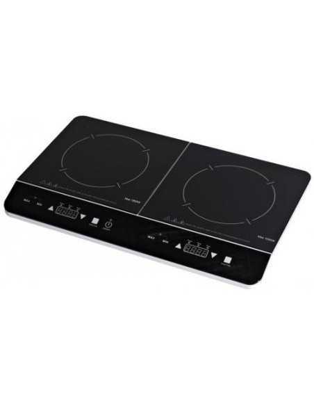 Doppia Piastra Fornello elettrico ad induzione con timer e display LED Zephir ZHC14-16, 10 Livelli di temperatura, 2800W