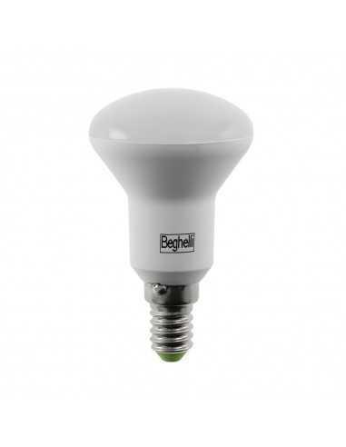 Lampada LED Reflector R50 E27 5W Luce calda Beghelli 56142, 3000°K, 350 Lumen, Resa 60W, Apertura luce 110°, A+: Coppolav.it