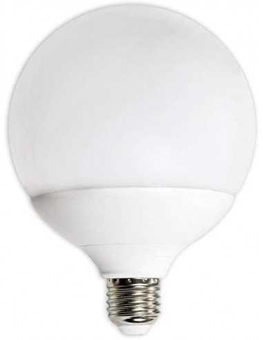 Lampada LED Globo E27 15W Luce fredda Elplast Beghelli 56818, 6500°K, 1400 Lumen, Resa 90W, Diametro 120 mm, Apertura luce 180°