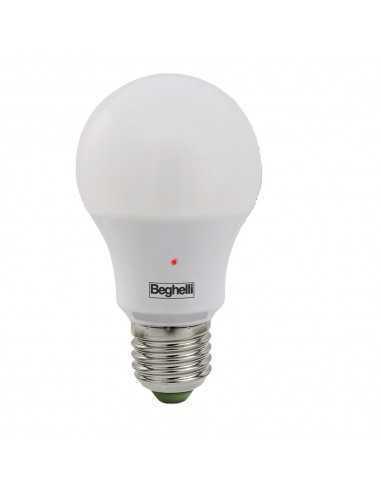 Lampada LED con sensore crepuscolare Beghelli 56128, E27, luce calda, resa 75W (1100 lumen)|Coppolav.it: Lampada LED