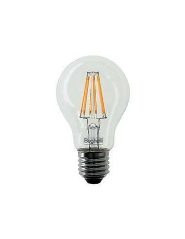 Lampada LED Vintage 12W E27 Luce calda Beghelli 56186, 2700°K, 1600 Lumen, Resa 100W, Goccia, Apertura luce 360°, A++