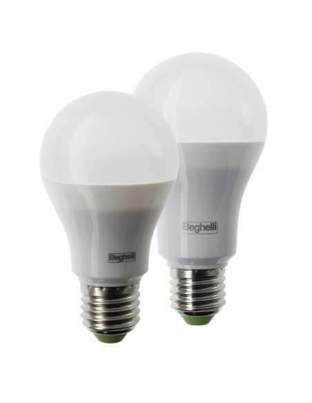 Lampadina E27 LED Beghelli 10W, 850 Lumen, Luce fredda, 6500°K, A+ - Coppolav.it