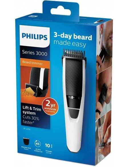 Regolabarba ricaricabile Philips BT3206 con lame in acciaio Inox