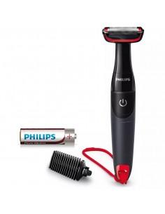 Rasoio per corpo con pettine 3 mm Philips Bodygroom BG105/10, Batteria AA Inclusa, Rifinisci fino a 0,5 mm, Garanzia 2 anni