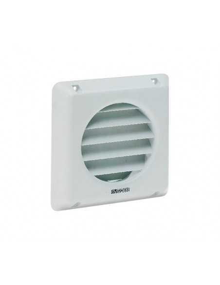 Griglia fissa per sistemi di ventilazione diametro 100 mm Vortice 22010 GFI 10, Plastica bianca, MADE IN ITALY