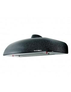 Cappa con luce lunga 60 cm Vortice 20575 60-P, Motore a 3 velocità, 2 Luci E14, Scarico Diametro 100/120 mm, Nera, MADE IN ITALY