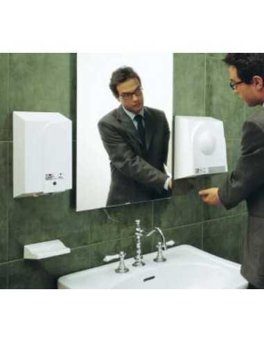 Distributore automatico di sapone a raggi infrarossi Vortice ECOsoap 19320, Distanza mani 0-10 cm, MADE IN ITALY: Coppolav.it