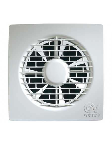 """Aspiratore da muro diametro 100 mm Vortice 11201 M100/4"""", Portata 90 m3/h, Struttura in plastica, Elicoidale, MADE IN ITALY, IMQ"""