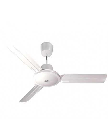 Ventilatore da soffitto bianco 3 pale diametro 120 cm Vortice 61751 Nordik Evolution R 120/48, Pale in acciaio, MADE IN ITALY