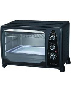 Forno elettrico ventilato 24 litri con termostato regolabile DCG MB9824N, 4 Posizioni di calore, 100°-230°, Certificazione A13