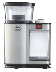 Macina caffè elettrico con corpo in acciaio Inox, timer e macinazione variabile DCG KSW2606, 120W, Pietra smerigliatrice