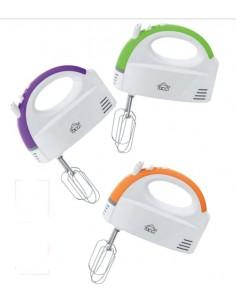 Mixer a 5 velocità con fruste e ganci per miscelare, sbattere e amalgamare DCG HM817, 200W, Corpo ABS, Colorato: Coppolav.it