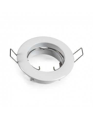 Faretto incasso tondo bianco fisso per foro diametro 65 mm Lampo Lighting DIKF230/BI/SL, Portalampada GU10 Incluso, 220-240V