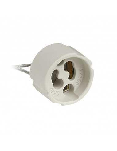 Portalampada GU10 della Lampo per lampadine LED o alogene, con filo lungo 23 centimetri