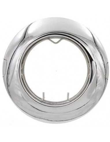 Faretto incasso tondo cromo lucido fisso per foro diametro 65 mm Lampo Lighting DIKF230/CR/SL, Portalampada GU10 Incluso, 220V