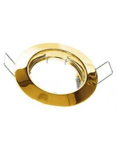 Faretto ad incasso Lampo DIK FIX FISSO|Colore: Oro lucido|GU10|220V|Coppolav.it:Faretti ad incasso