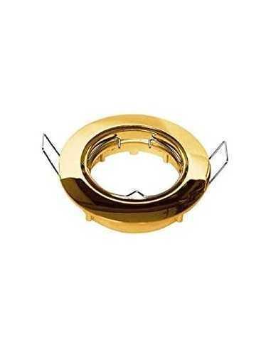 Faretto incasso tondo oro lucido orientabile per foro diametro 75 mm Lampo Lighting DIKOR230/OR/SL, Portalampada GU10, 220-240V