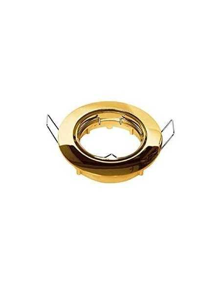 Faretto ad incasso Lampo DIK OR ORIENTABILE TONDO|Colori: Oro lucido|GU10|220V|Coppolav.it: Faretti ad incasso