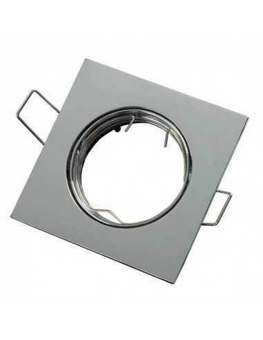Faretto incasso quadrato cromo lucido orientabile per foro diametro 75 mm Lampo Lighting DIKORSQ230/CR/SL, Portalampada GU10