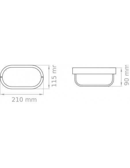 Tartaruga bianca per esterno IP44 Lampo E093VTRBI|E27 (Grande)|MADE IN ITALY|Coppolav.it: Illuminazione per esterno da parete