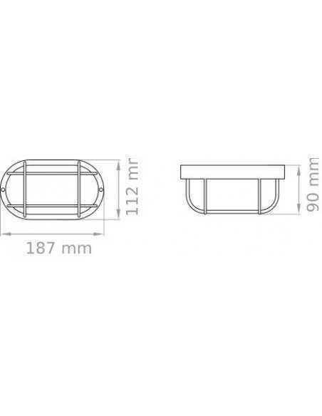 Tartaruga bianca per esterno IP44 Lampo E090VTRBI|E27 (Grande)|MADE IN ITALY|Coppolav.it: Illuminazione per esterno da parete