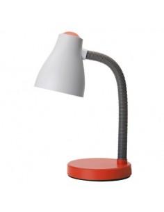Lampada da scrivania bianca e arancione ideale per camera di bambini e ragazzi Perenz 6036AR, Plastica resistente, 1 E27, IP20