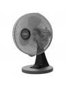 Ventilatore da tavolo Oscillante Nero Diametro 40 cm 45W Zephir ZNG40, 3 Velocità, Orientamento verticale, Silenzioso, IMQ