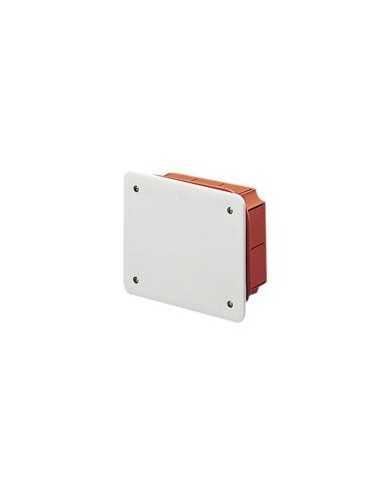 Cassetta di derivazione ad incasso con coperchio e viti FAEG FG10208, 92 mm x 92 mm x 45 mm, Bianco, IP40, IMQ, MADE IN ITALY