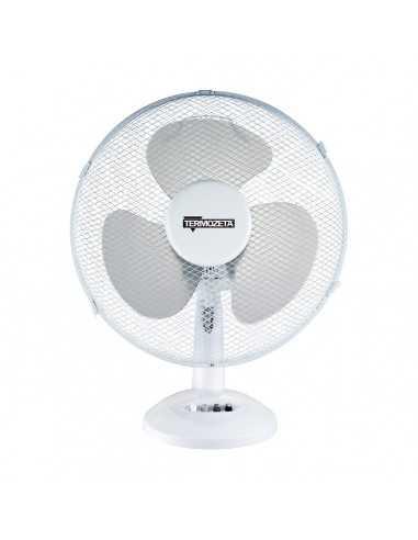 Ventilatore da tavolo Oscillante Bianco Diametro 40 cm 45W Termozeta TZWZ05, 3 Velocità, Orientamento verticale, 3 Pale