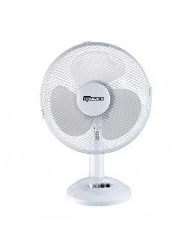 Ventilatore da tavolo Oscillante Bianco Diametro 30 cm 35W Termozeta TZWZ04, 3 Velocità, Orientamento verticale, 3 Pale