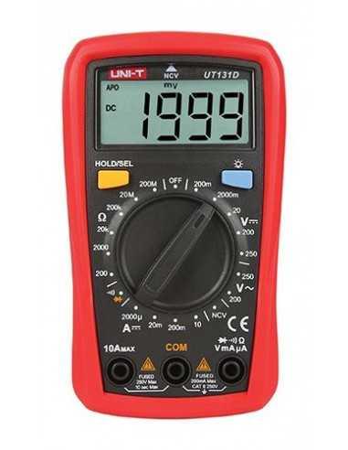 Tester Multimetro a batterie per tensione e corrente continua e alternata Melchioni 530134339, 250V 10A, Display retroilluminato