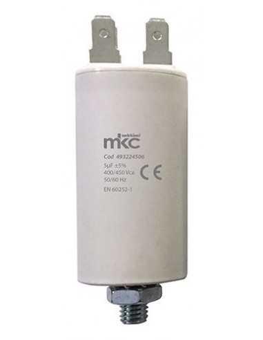 Condensatore 5 UF 400/450V con terminale faston 6,3 mm Melchioni 493224506, Polipropilene, Utile per avviamento motori