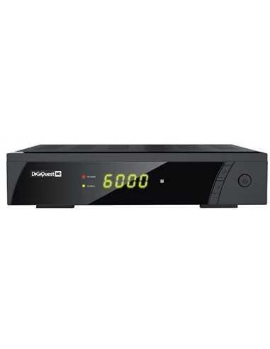 Decoder digitale satellitare Full HD 1080p con registrazione e pausa in diretta Melchioni DiGiQuest, 4000 Canali TV, USB, 12V