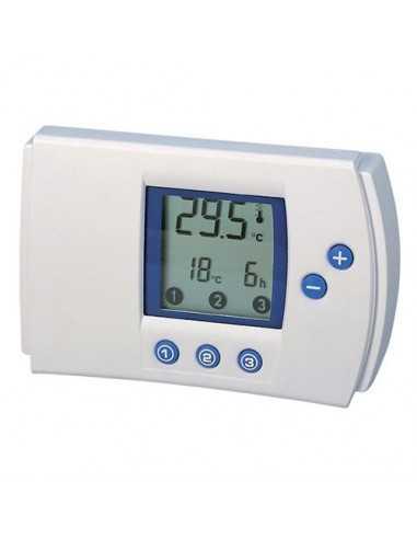 Cronotermostato digitale a batterie con programmazione giornaliera Melchioni 493933759, 5-30°C, Funzione caldo e freddo