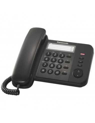 Telefono fisso con filo e tasti grandi Panasonic KX-TS520EX 531812103, Rubrica 50 voci, Montaggio a parete, Suoneria regolabile