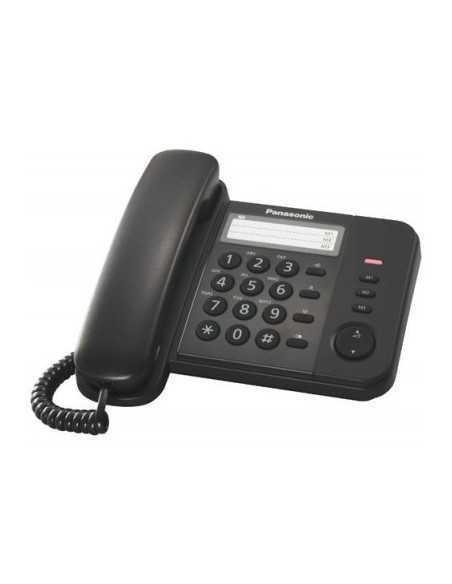 Telefono a filo nero Panasonic KX-TS520EX con tasti grandi, ID chiamate, suoneria regolabile: Coppolav.it: Telefono