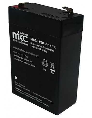 Batteria ricaricabile 6V 3,2A Slim Melchioni 491460219, Terminali Faston 4,8 mm: Coppolav.it