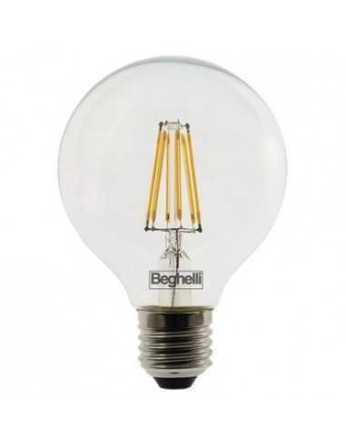 Lampada LED Globo Vintage 12W E27 Luce calda Beghelli 56447, 2700°K, 1600 Lumen, Resa 100W, Apertura luce 360°, A++: Coppolav.it