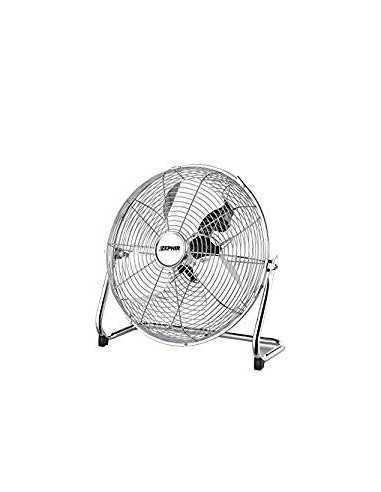 Ventilatore industriale orientabile da terra ad alte prestazioni con motore da 120W e pala da 45 cm Zephir PF45CR, 3 Velocità
