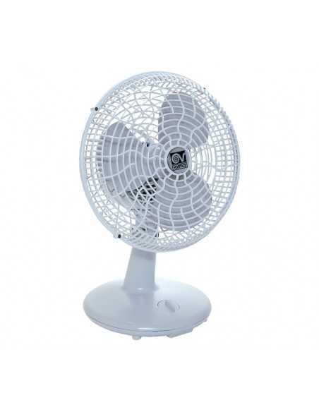 Ventilatore da tavolo o parete dotato di manopola per l'accensione, lo spegnimento e per la scelta di una delle 3 velocità, MADE